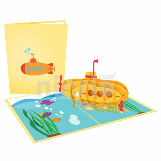 Submarine Card– Transport 3D Popup Card