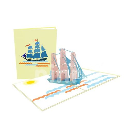 USA Ship Card – Vehicle 3D Popup Card
