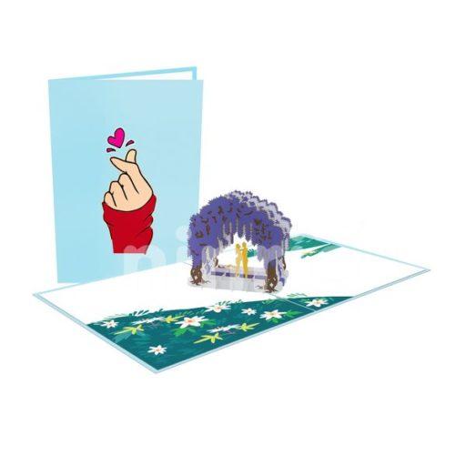 Wisteria Couple Card – Building 3D Card