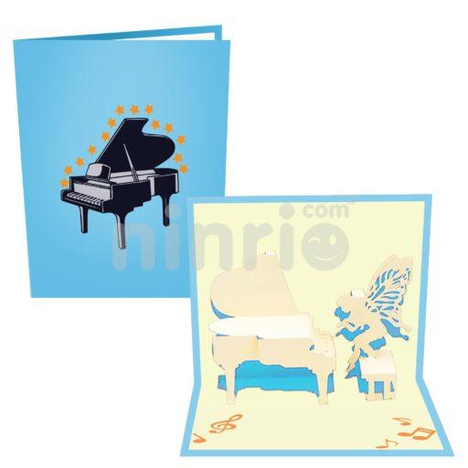 Thiệp Đàn dương cầm – Thiệp âm nhạc