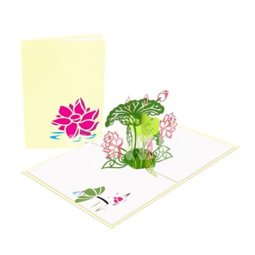 Nelumbo nucifera Card - Flower 3D Card