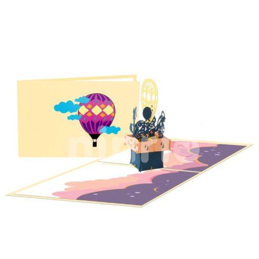 Hot Air Balloon Card – Transport 3D Card