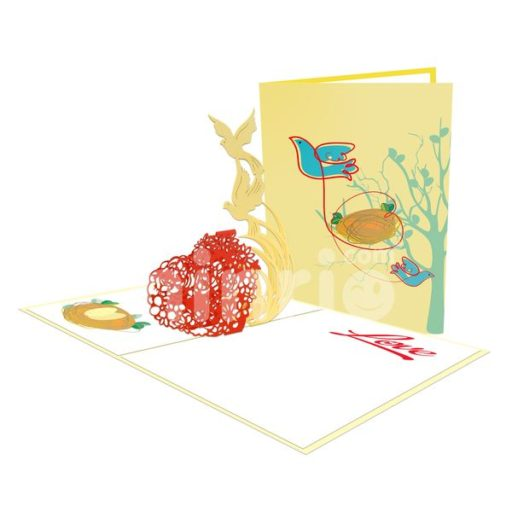 Doves Card – Love 3D Popup Card