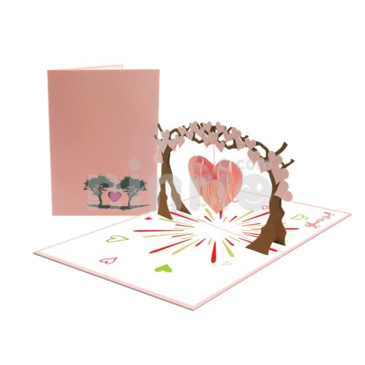 Thiệp 3D Cây tình yêu – Thiệp 3d Valentine