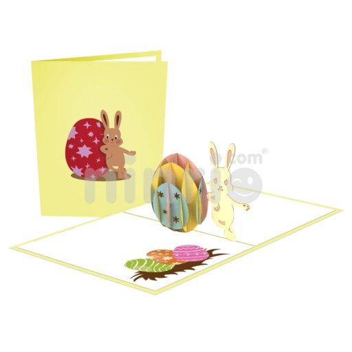 Thiệp Thỏ phục sinh 3D – Thiệp Giáng sinh 3D