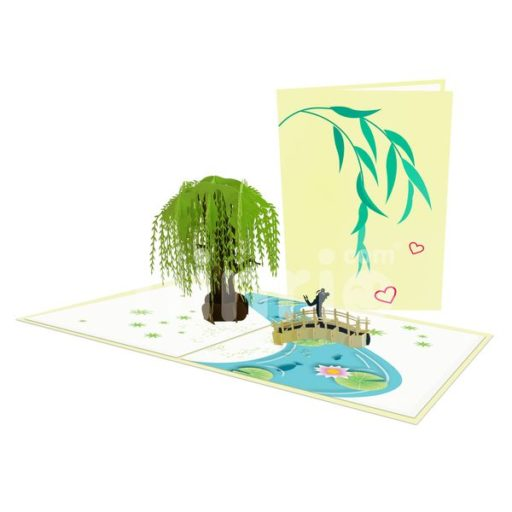 Coupe Under Willow Tree Card – Love 3D Popup Card