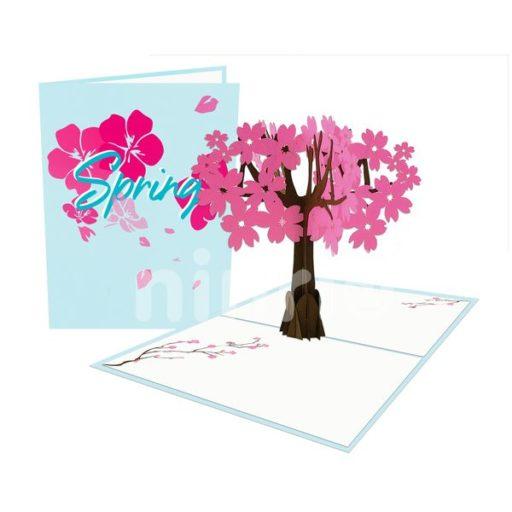 Peach Blossom Tree Card – Flower 3D Popup Card