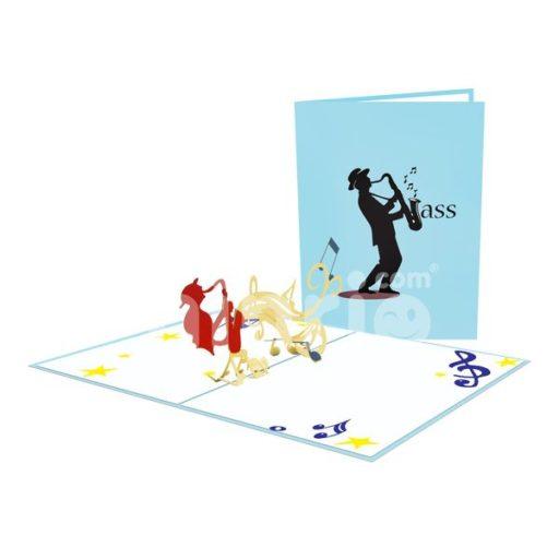 Jazz Card– Music 3D Popup Card