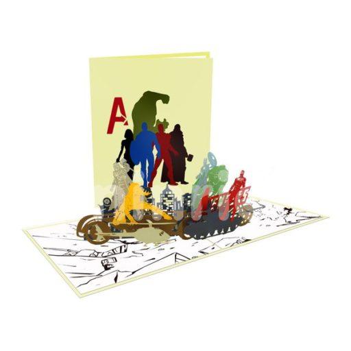 Avengers Card– Birthday 3D Popup Card