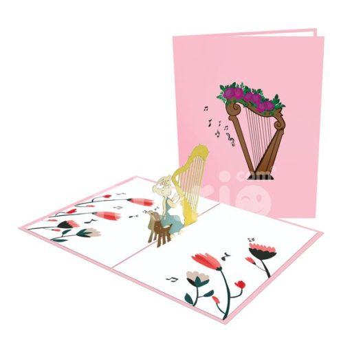 Harp Card– Music 3D Popup Card