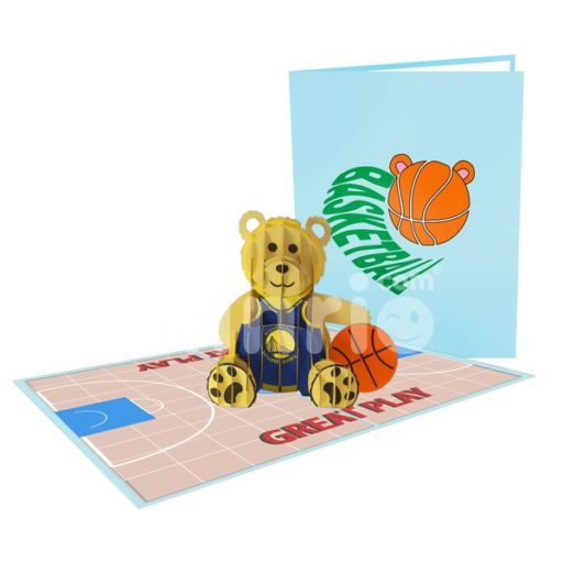 Basketball Card – Animal 3D Popup Card