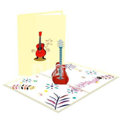 Guitar Card – Music 3D Card