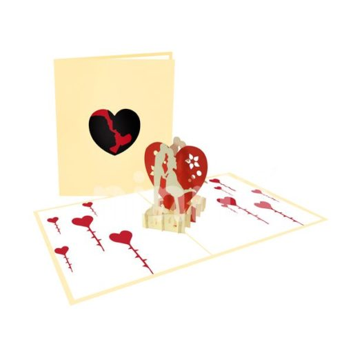 Coupe With Big Heart Card – Love 3D Popup Card