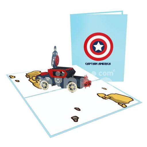 Captain America Card– Birthday 3D Popup Card