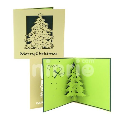 Christmas tree card - Christmas 3D popup cad