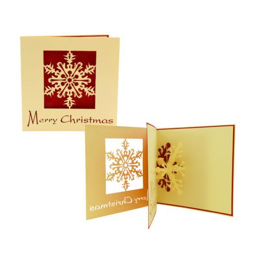 Snow 3D Card, Christmas Card