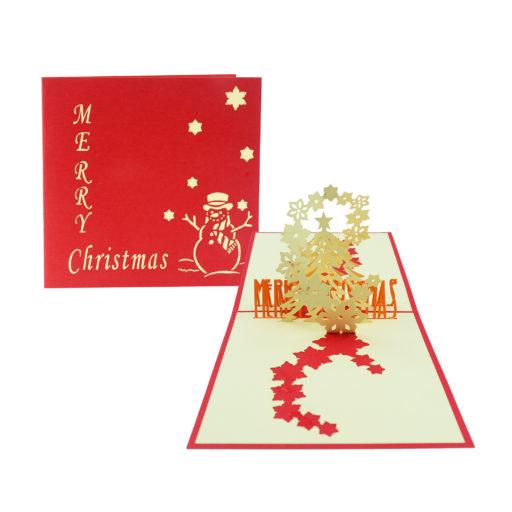 Christmas star, Christmas pop up card, star 3d card