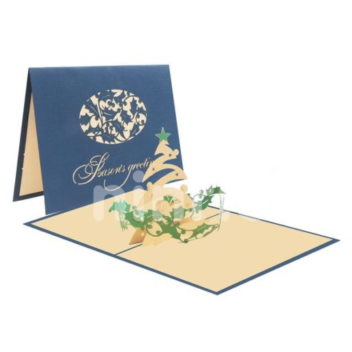 Christmas Greetings Card - Christmas 3D Card