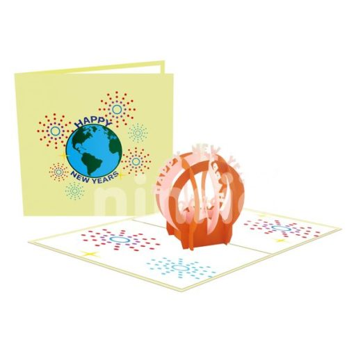 New Year's Globe Card - Christmas Card