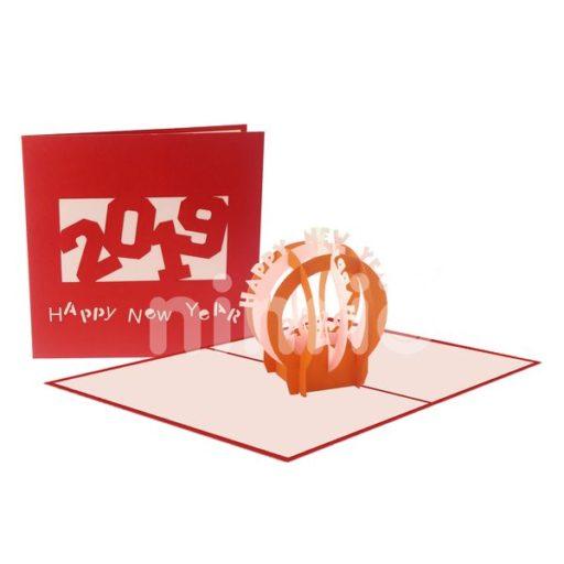 New Year's Globe Card - Christmas Card