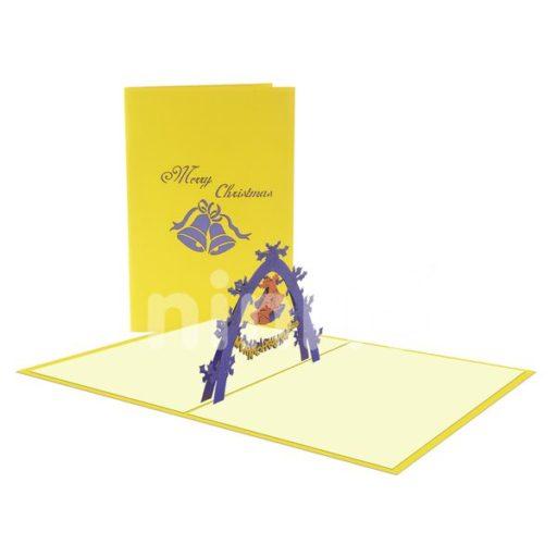 Christmas Bell Card- Christmas 3D Card