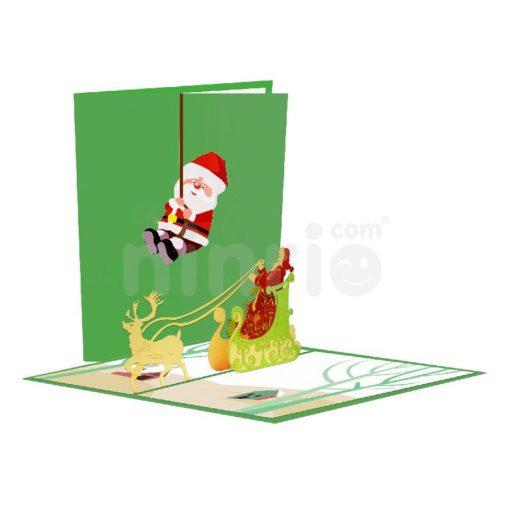 Thiệp ông già Noel vua - Thiệp Giáng sinh 3D