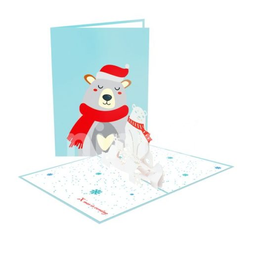 Christmas Bear Card – Christmas 3D Card