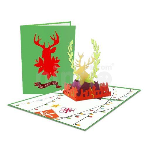 Reindeer Card - Christmas 3D Card