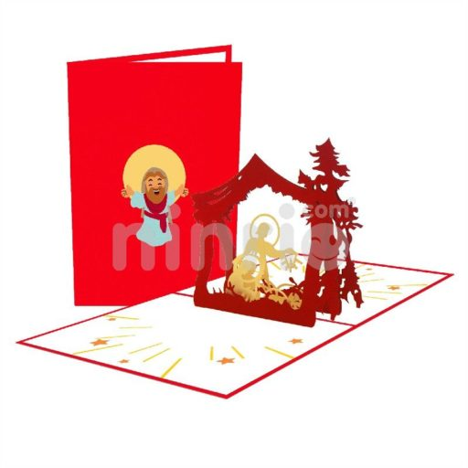 Birth of God Card - Christmas 3D Popup Card