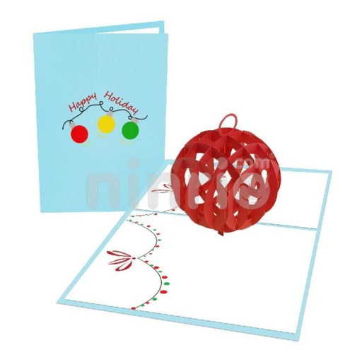 Christmas Ball - Christmas 3D Popup Card