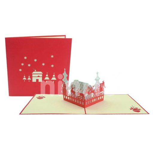 Thiệp ngôi nhà Santa – Thiệp ngôi nhà ông già Noel