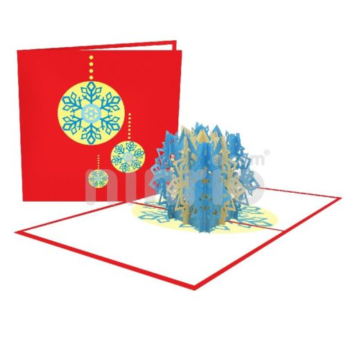 Snowflake Card - Christmas 3D Popup Card