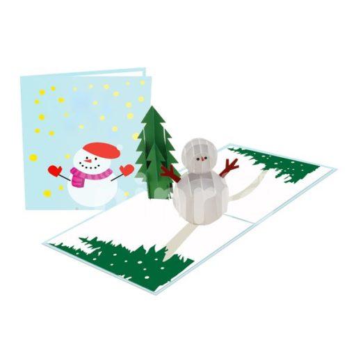 Thiệp người tuyết Giáng sinh 3D - Thiệp 3D Giáng sinh
