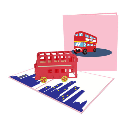 Double-decker bus 3D Popup Card