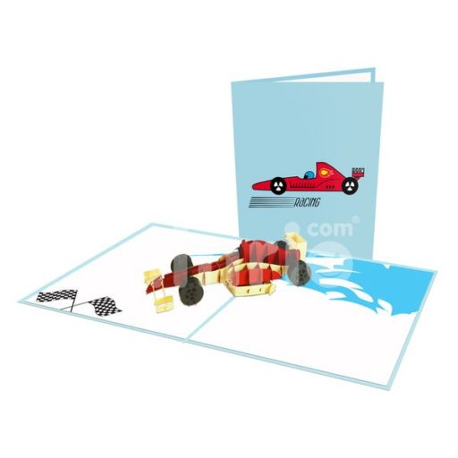 Formula 1 Card – Transport 3D Popup Card