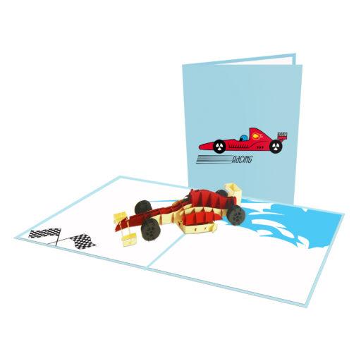 Formula 1 3D Popup Card