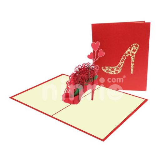 Court Shoes and Rose Card – Flower 3D Card