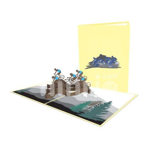 Cyclist Team Card - Sport 3D Popup Card