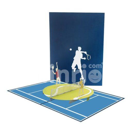 Tennis 3D Card - Sport 3D Popup Card