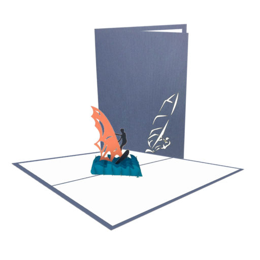 Surfing 3D Popup Card