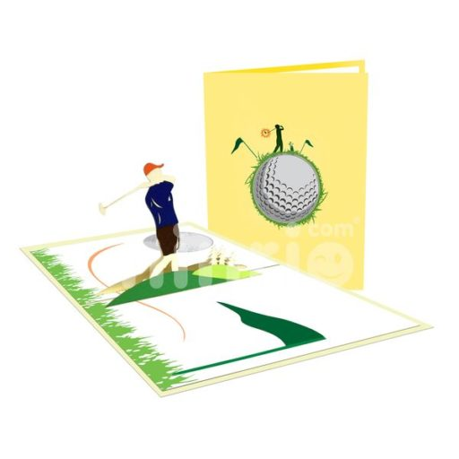 Golf Card - Sport 3D Popup Card