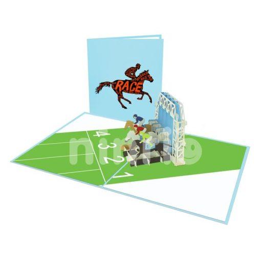 Horse Jockey Card – Sport 3D Popup Card