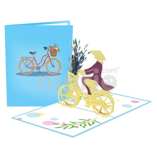 Bicycle Card– Viet Nam 3D Popup Card