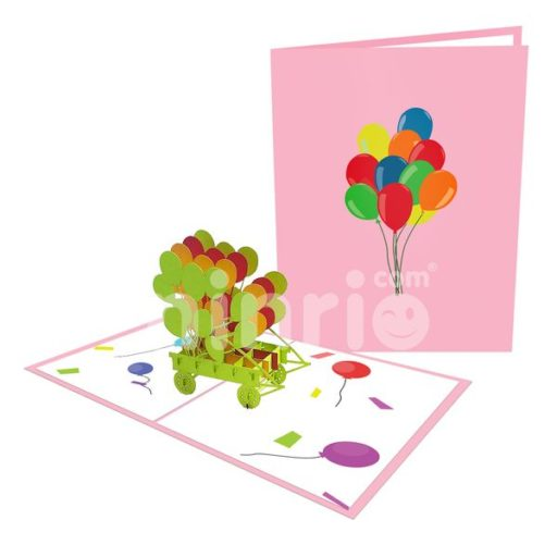 Balloons Card – Birthday 3D Popup Card
