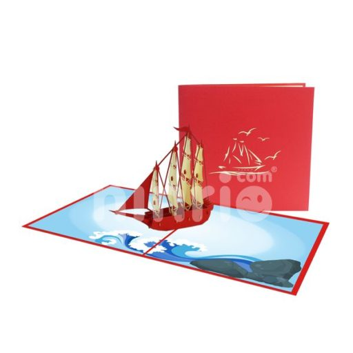 Boat Card – Transport 3D Popup Card