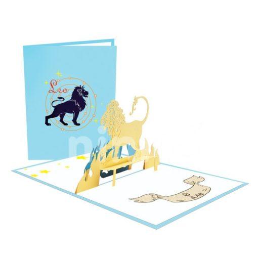 Lion 3D Popuo Card