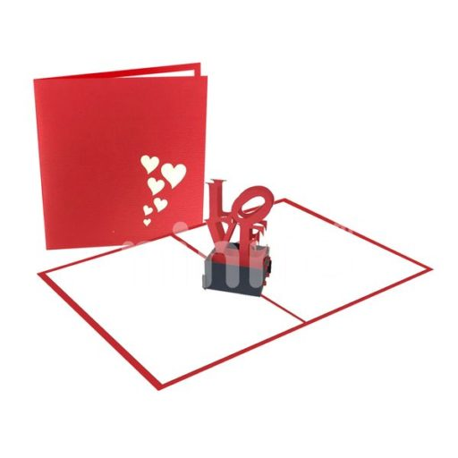 Love Statue Card – Love 3D Popup Card