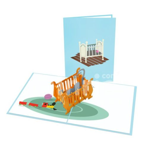 Baby In Crib Card – New Baby 3D Popup Card