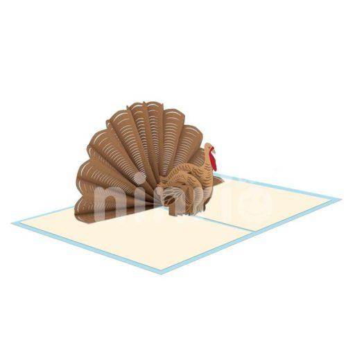 Turkey Card – Animal 3D Popup Card