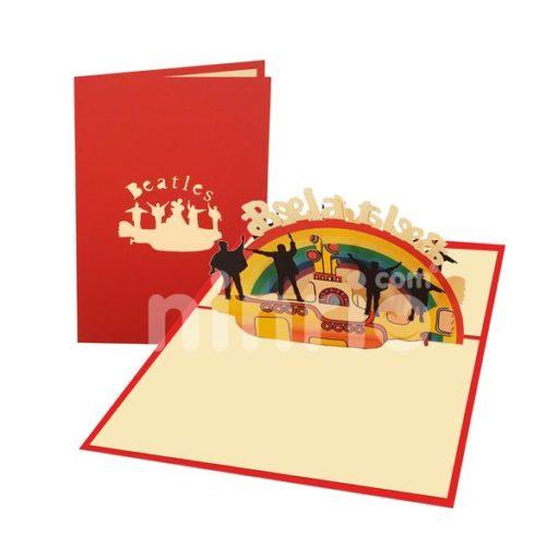 The Beatles Card – Birthday 3D Popup Card